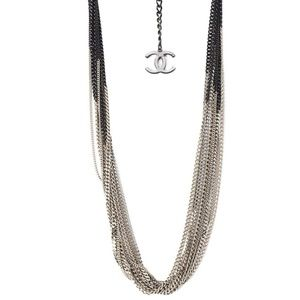 NBW Chanel Two Tone Multichain Necklace CHA661 B14